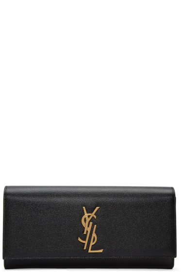 Saint Laurent - Black Deconstructed Monogram Kate Clutch