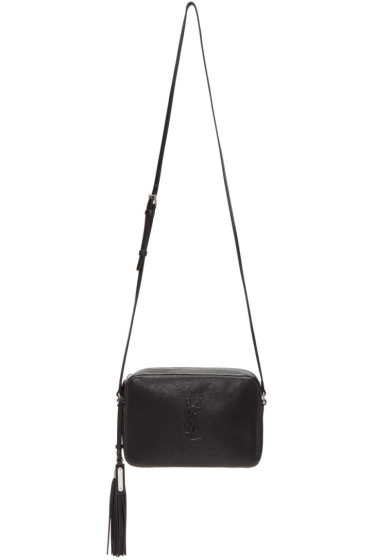 Saint Laurent - Sac à monogramme noir Small Lou Camera