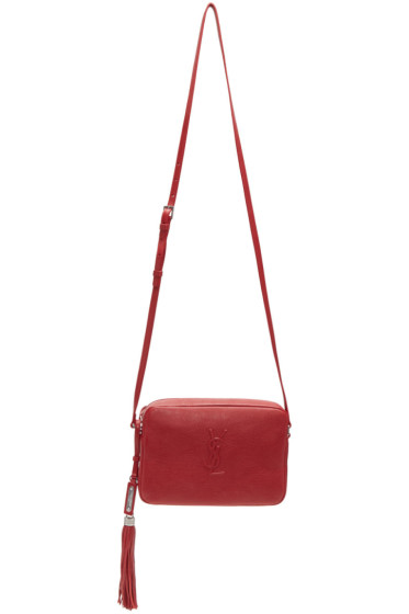Saint Laurent - Sac à monogramme rouge Lou Small Camera
