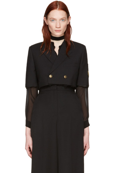 Saint Laurent - Black Spencer Officier Blazer