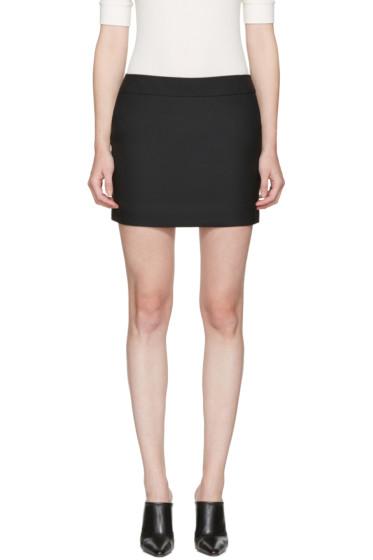 Saint Laurent - Black Classic Smoking Miniskirt