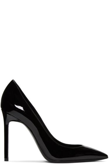 Saint Laurent - Black Patent Leather Anja Heels