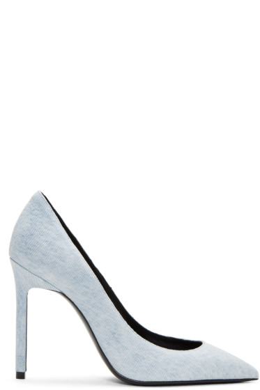 Saint Laurent - Blue Denim Anja Heels