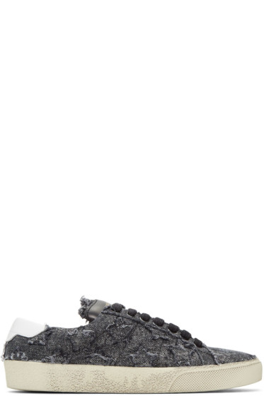 Saint Laurent - Baskets noires Court Classic California