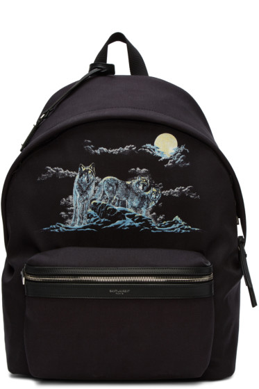 Saint Laurent - Black Wolf City Backpack