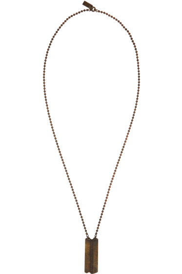 Julius - Gold Dog Tag Necklace