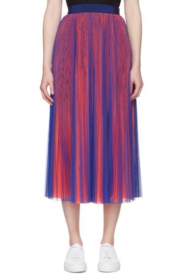 MSGM - Blue & Orange Tulle Skirt