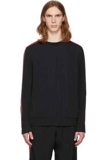 MSGM - ブラック アーム ストライプ スウェットシャツ