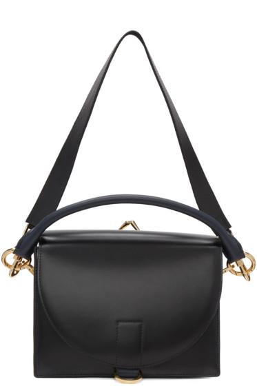 Sacai - Black Leather Satchel