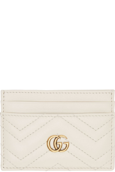 Gucci - Off-White GG Marmont Card Holder
