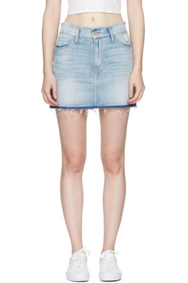Frame Denim - Blue Denim 'Le Mini Frayed Waist' Miniskirt
