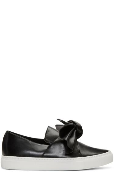 Cédric Charlier - Black Bow Slip-On Sneakers