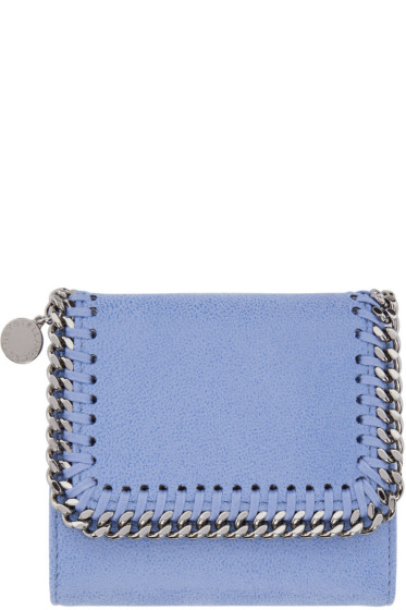 Stella McCartney - Blue Falabella Small Flap Wallet