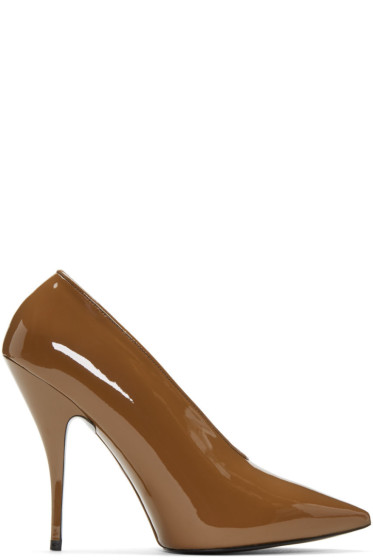 Stella McCartney - Tan Patent Pointed Heels