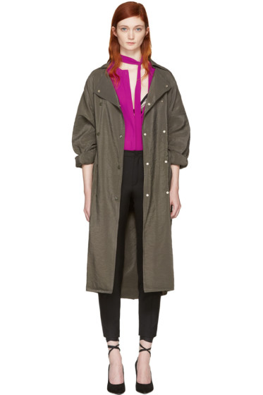 Nina Ricci - Green Sporty Trench Coat