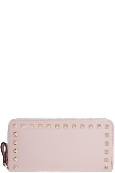 Valentino - Pink Rockstud Continental Wallet