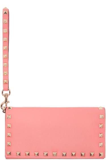 Valentino - Pink Rockstud Flap Wallet