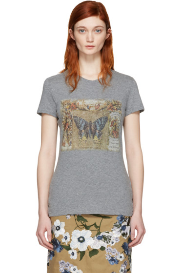 Valentino - Grey Vintage Butterfly T-Shirt