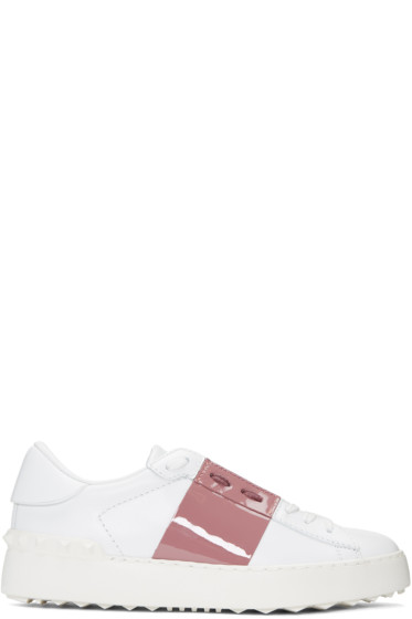 Valentino - White & Pink Open Sneakers
