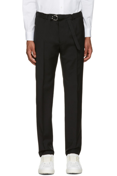 Valentino - Black Belted Trousers