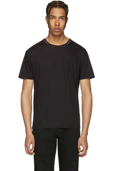 Valentino - Black Studs T-Shirt