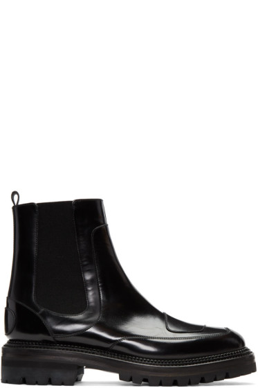 Yang Li - Black Moto Chelsea Boots