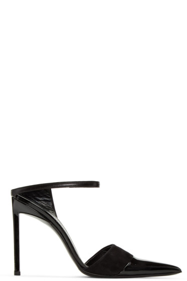 Haider Ackermann - Black Open Back Heels