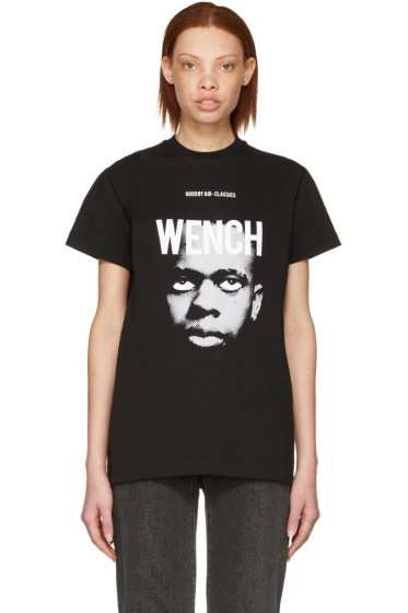 Hood by Air - Black 'Wench' Laura Face T-Shirt