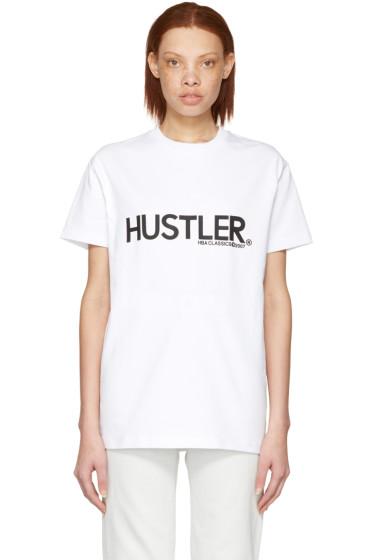 Hood by Air - White 'Hustler' T-Shirt