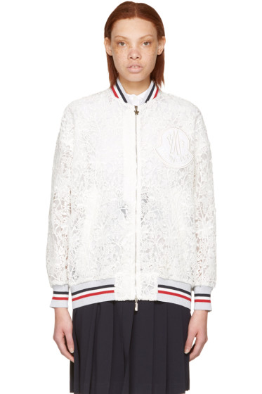 Moncler Gamme Rouge - White Lace Lauren Bomber Jacket
