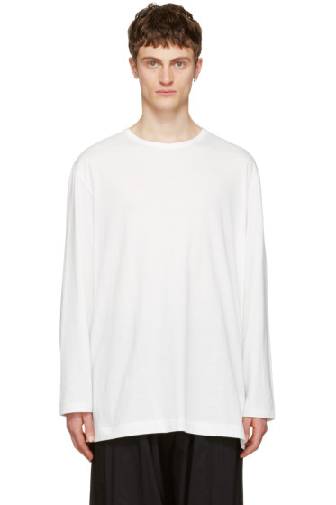 Yohji Yamamoto - Off-White Back Logo T-Shirt