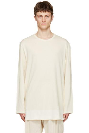 Yohji Yamamoto - Beige 'I Am A Slump' T-Shirt