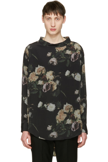 Lad Musician - Black Inkjet Flower Pullover