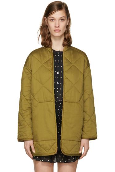 Isabel Marant Etoile - Reversible Black Daca Quilted Jacket