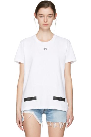 Off-White - SSENSE Exclusive White Diagonal Tulips T-Shirt