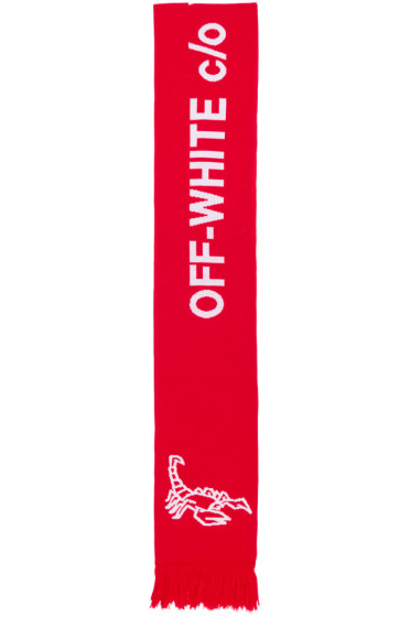 Off-White - Red Scorpion Big Scarf
