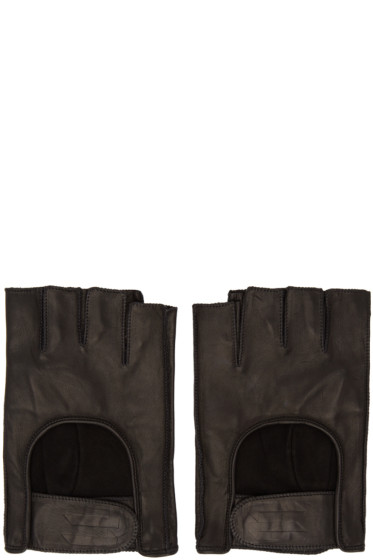 11 by Boris Bidjan Saberi - Black Fingerless Gloves