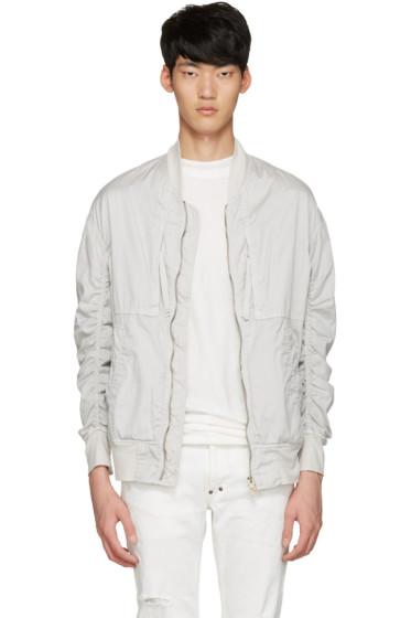 Diet Butcher Slim Skin - White Garment-Dyed Fight Jacket