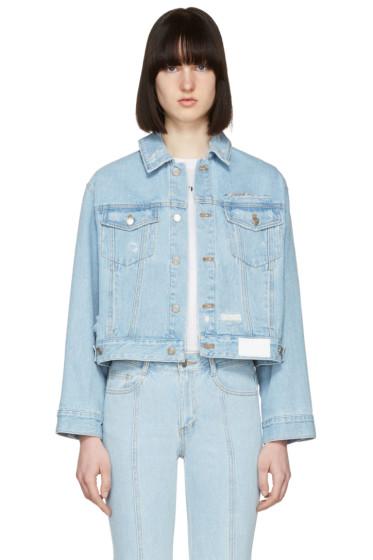 SJYP - Blue Denim Back Button Jacket