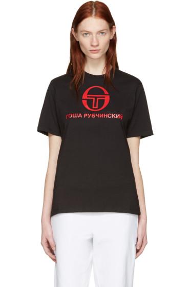 Gosha Rubchinskiy - ブラック Sergio Tacchini Edition T シャツ