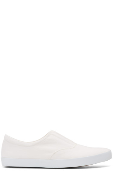 Lemaire - Off-White Twill Slip-On Sneakers