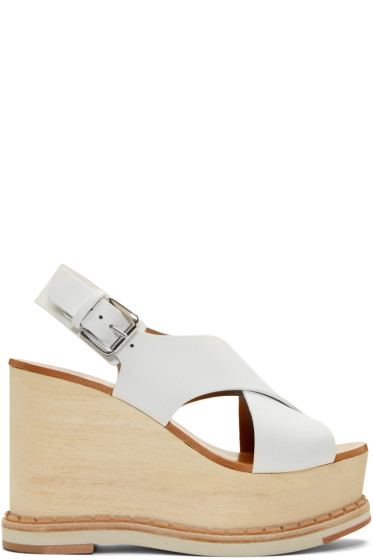 Flamingos - Ecru Trendy Wedge Sandals