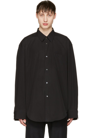 Vetements - Black Comme des Garçons Edition Oversized 80's Shirt