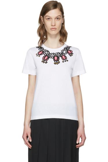 Comme des Garçons Girl - White Necklace T-Shirt