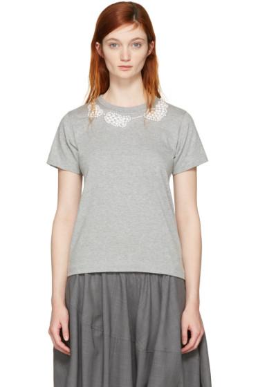 Comme des Garçons Comme des Garçons - Grey Pearl Necklace T-Shirt