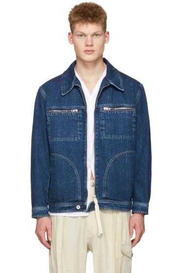 Loewe - Indigo Denim Zip Jacket