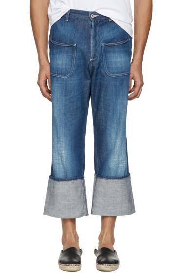 Loewe - Indigo Patch Pocket Jeans