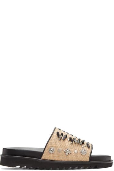 Toga Virilis - Beige Jute Sandals