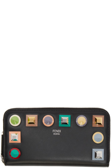 Fendi - Black Rainbow 2Jours Zip Wallet