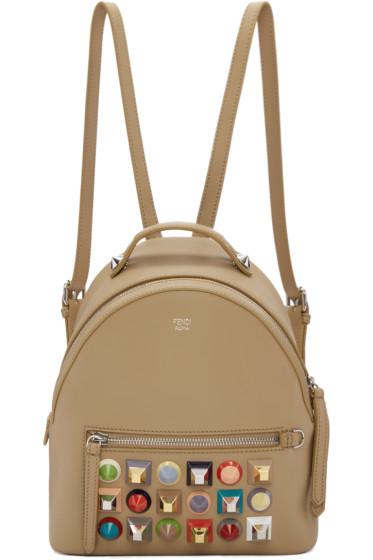 Fendi - Beige Mini Studded Backpack